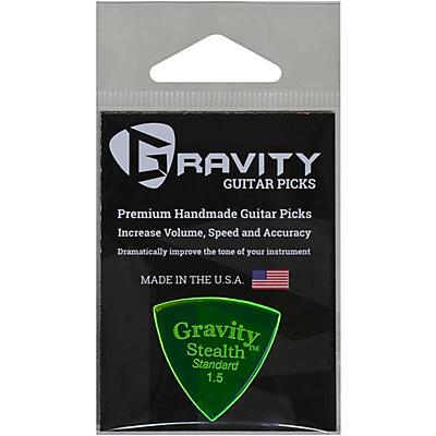 GRAVITY PICKS Stealth Standard Polished Fluorescent Green Guitar Picks