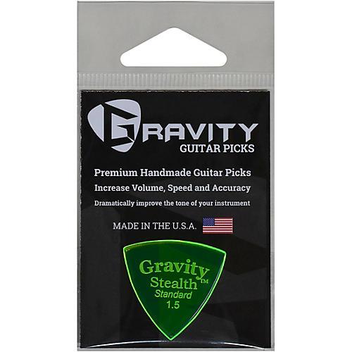 GRAVITY PICKS Stealth Standard Polished Fluorescent Green Guitar Picks 1.5 mm