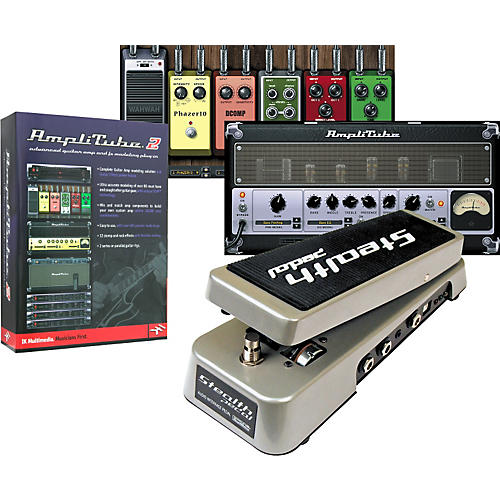 IK Multimedia StealthPedal Audio Interface/Controller + AmpliTube 2 Guitar Amp and Effects Modeling Plug-In