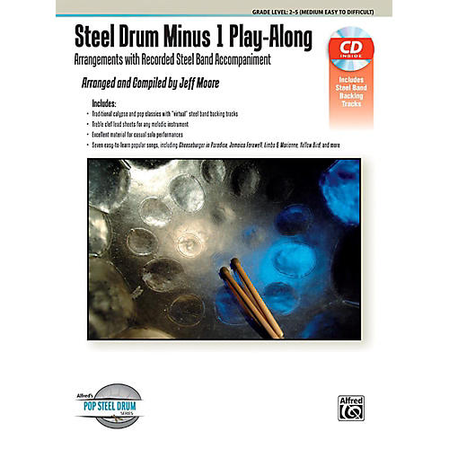 Alfred Steel Drum Minus 1 Play-Along - Book & CD