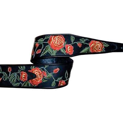 """Jodi Head Stella Rose Leather 3"""" Wide Guitar Strap"""