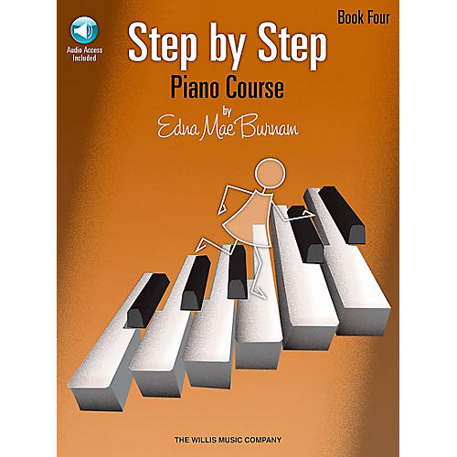 Willis Music Step By Step Piano Course Book 4 Book/CD