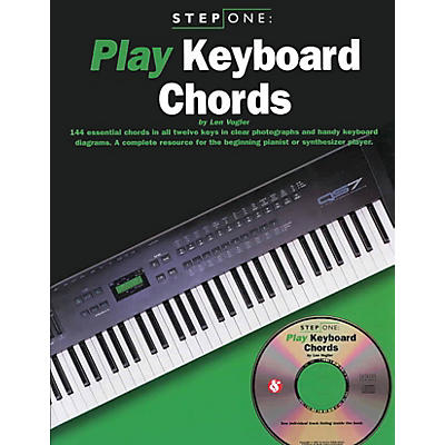 Music Sales Step One: Play Keyboard Chords Music Sales America Series Softcover with CD Written by Leonard Vogler