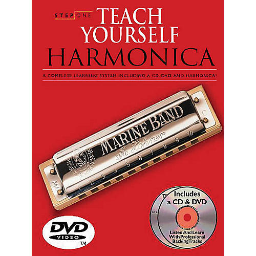 Music Sales Step One: Teach Yourself Harmonica Course Music Sales America Softcover with DVD by Various Authors