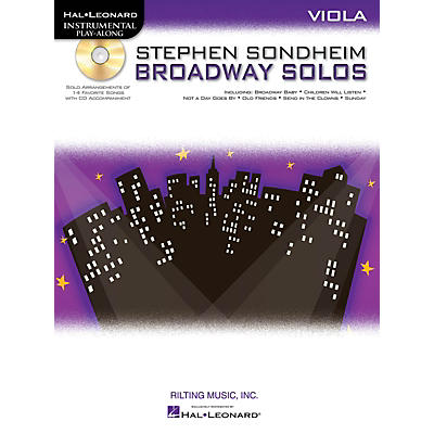 Hal Leonard Stephen Sondheim - Broadway Solos (Viola) Instrumental Play-Along Series Softcover with CD