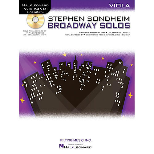Hal Leonard Stephen Sondheim - Broadway Solos (Viola) Instrumental Play-Along Series Softcover with CD