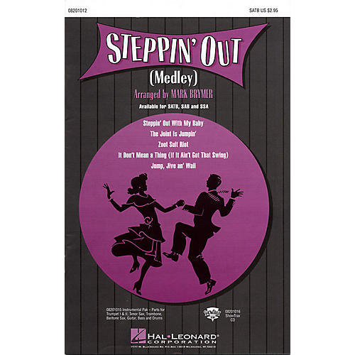 Hal Leonard Steppin' Out (Medley) SATB arranged by Mark Brymer