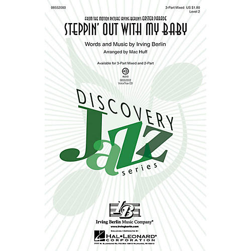 Hal Leonard Steppin' Out with My Baby (Discovery Level 2) 3-Part Mixed arranged by Mac Huff