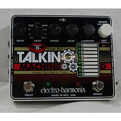 Electro-Harmonix Stereo Talking Machine Vocal Formant Filter Effect Pedal