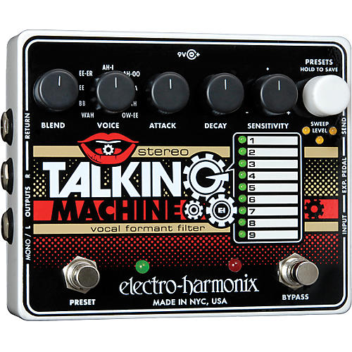 electro harmonix stereo talking machine vocal formant filter guitar effects pedal musician 39 s. Black Bedroom Furniture Sets. Home Design Ideas