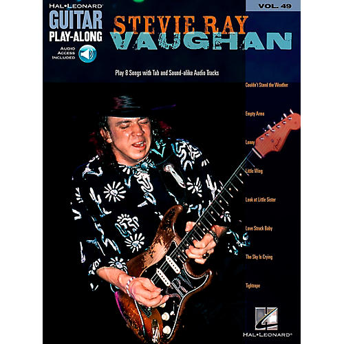 Hal Leonard Stevie Ray Vaughan Guitar Play-Along Series Volume 49 Book with Online Audio