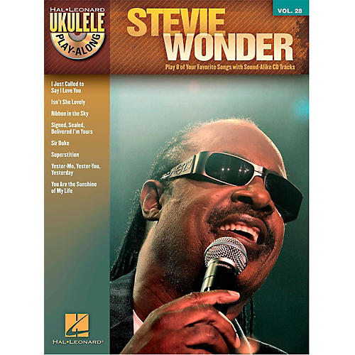 Hal Leonard Stevie Wonder - Ukulele Play-Along Vol. 28 Book/CD