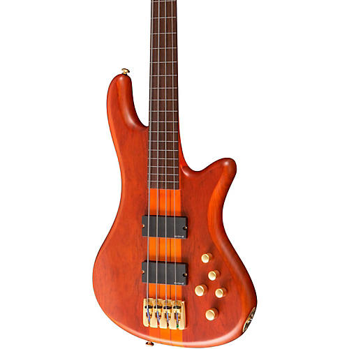 Schecter Guitar Research Stiletto Studio-4 Fretless Bass Satin Honey