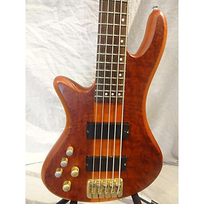 Schecter Guitar Research Stiletto Studio 5 String Left Handed Electric Bass Guitar