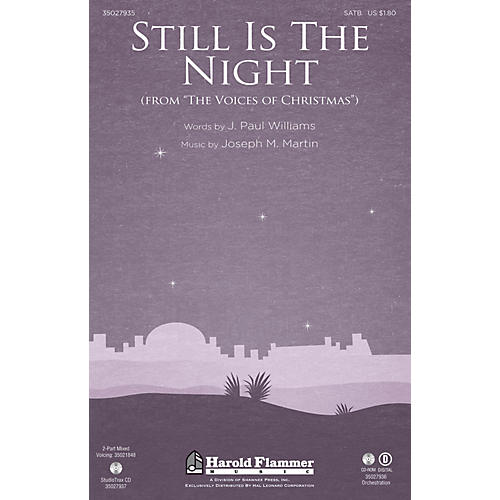 Shawnee Press Still Is the Night SATB composed by Joseph M. Martin