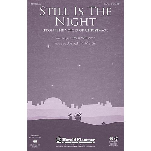 Shawnee Press Still Is the Night Studiotrax CD Composed by Joseph M. Martin