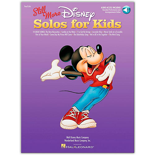 Hal Leonard Still More Disney Solos for Kids Book/Online Audio Of Performances And Accompaniments