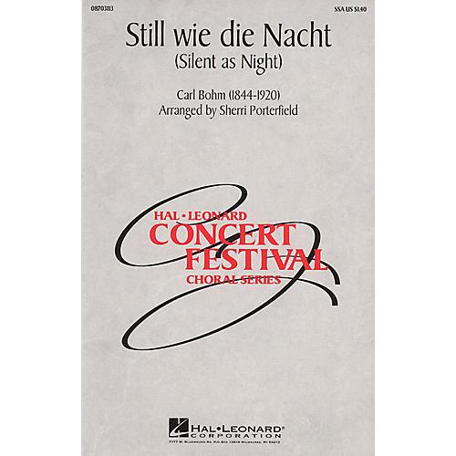 Hal Leonard Still wie die Nacht (Silent As Night) SSA arranged by Sherri Porterfield