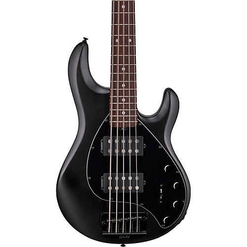 Sterling by Music Man StingRay Ray35HH Rosewood Fingerboard 5-String Electric Bass Stealth Black