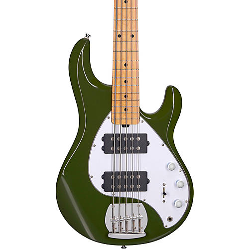 Sterling by Music Man StingRay Ray5HH Maple Fingerboard 5-String Electric Bass Olive