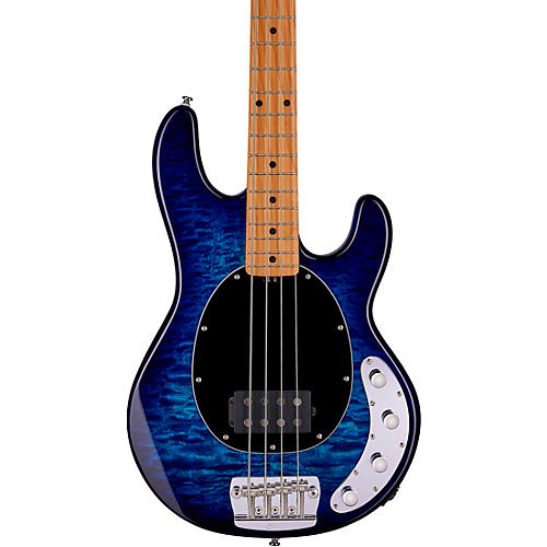 Sterling by Music Man StingRay Roasted Maple Neck Quilt Top Bass