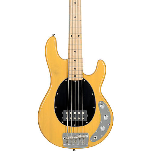 Sterling by Music Man StingRay5 Classic Ray25 Maple Fingerboard 5-String Electric Bass Butterscotch