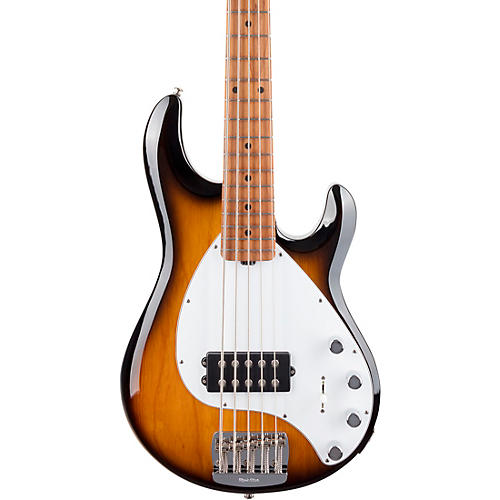 Ernie Ball Music Man StingRay5 Special H Maple Fingerboard Electric Bass Vintage Tobacco