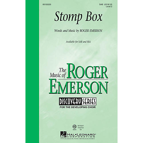 Hal Leonard Stomp Box (Discovery Level 2) SAB composed by Roger Emerson