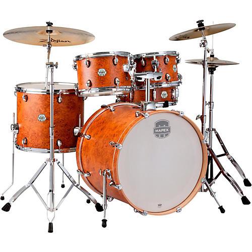 Mapex Storm Rock 5-piece Drum Set Camphor Wood Grain