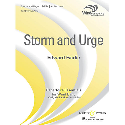 Boosey and Hawkes Storm and Urge (Score Only) Concert Band Level 5 Composed by Edward Fairlie