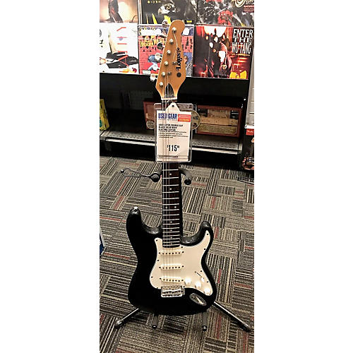 Lotus Strat Style Solid Body Electric Guitar Black