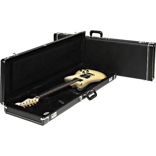 Fender Strat/Tele Hardshell Case Condition 1 - Mint Black Black Plush