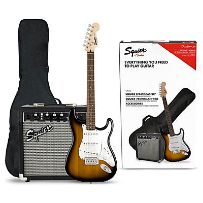 Squier Stratocaster Electric Guitar Pack With Squier Frontman 10G Amp