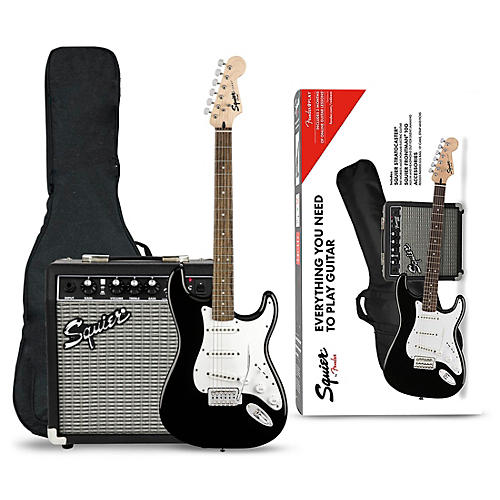 squier stratocaster electric guitar pack with fender frontman 10g amp black musician 39 s friend. Black Bedroom Furniture Sets. Home Design Ideas