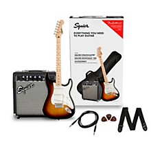 Stratocaster Limited-Edition Electric Guitar Pack with Fender Frontman 10G Amp 3-Color Sunburst