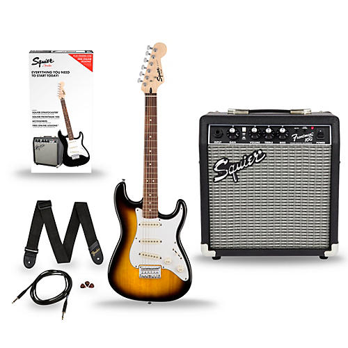 Squier Stratocaster Pack SS (Short-Scale) Electric Guitar with Fender Frontman 10G Combo Amplifier