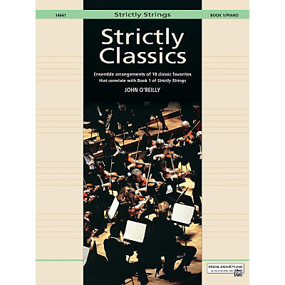 Alfred Strictly Classics Book 1 Piano Acc.