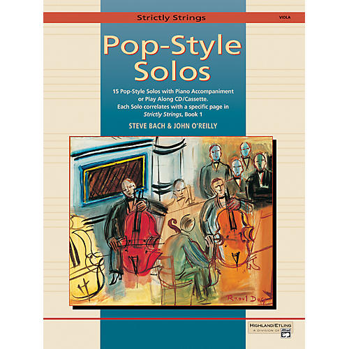 Alfred Strictly Strings Pop-Style Solos Viola Book Only