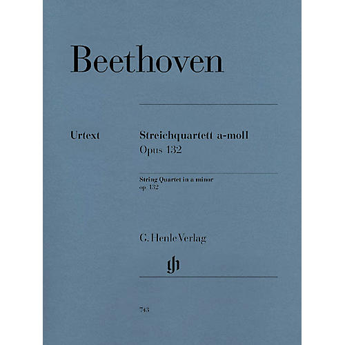 G. Henle Verlag String Quartet A minor Op. 132 Henle Music Folios Series Softcover Composed by Ludwig van Beethoven