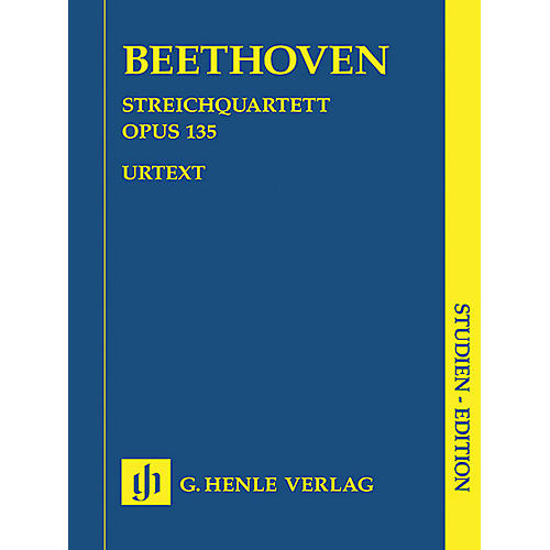 G. Henle Verlag String Quartet F Major Op. 135 (Study Score) Henle Study Scores Series Softcover by Ludwig van Beethoven