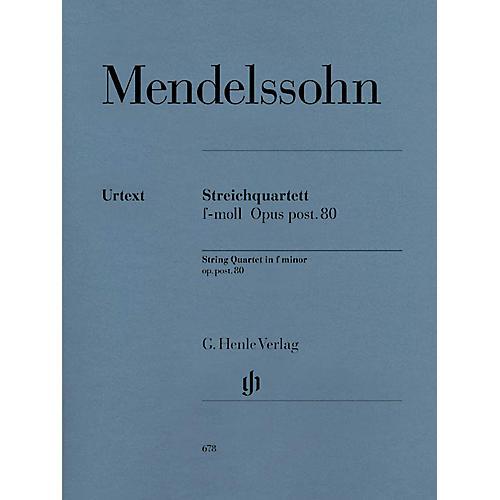 G. Henle Verlag String Quartet F Minor Op. Posth. 80 Henle Music Folios Series Softcover Composed by Felix Mendelssohn