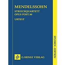 G. Henle Verlag String Quartet F Minor Op. Posth. 80 Henle Study Scores Series Softcover by Felix Mendelssohn Bartholdy