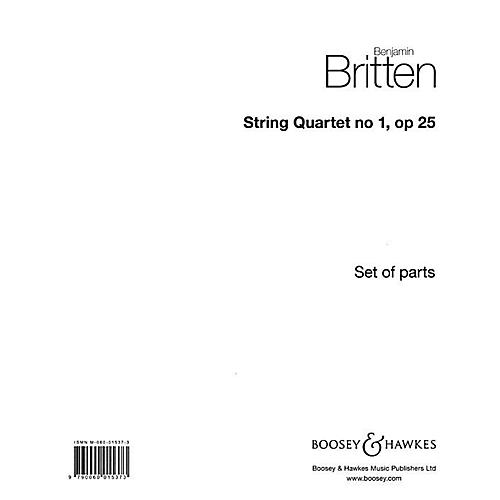Boosey and Hawkes String Quartet No. 1, Op. 25 (in D Major) Boosey & Hawkes Chamber Music Series by Benjamin Britten