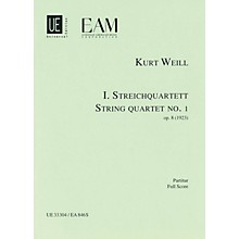 Universal Edition String Quartet No. 1, Op. 8 (Score) Study Score Series Composed by Kurt Weill