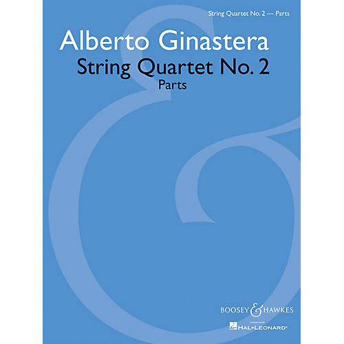 Boosey and Hawkes String Quartet No. 2 Boosey & Hawkes Chamber Music Series Softcover Composed by Alberto Ginastera