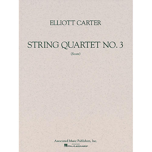 Associated String Quartet No. 3 (1971) (Study Score) Study Score Series Composed by Elliott Carter