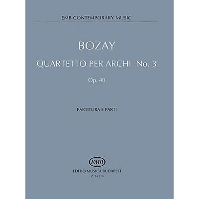 Editio Musica Budapest String Quartet No. 3, Op. 40 - Feasts of Equinoxes EMB Series Composed by Attila Bozay