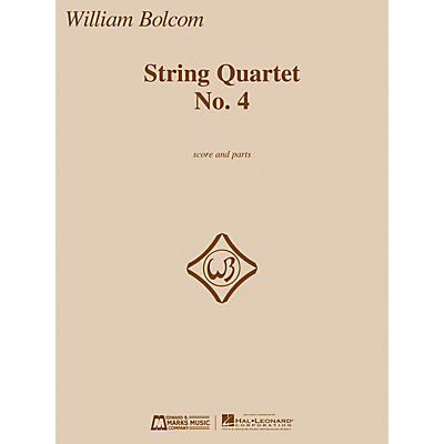 Edward B. Marks Music Company String Quartet No. 4 E.B. Marks Series Composed by William Bolcom