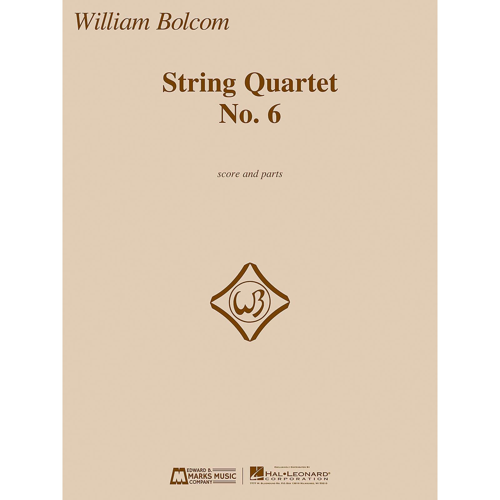 Edward B. Marks Music Company String Quartet No. 6 E.B. Marks Series Composed by William Bolcom