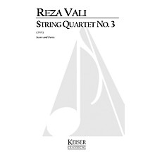 Lauren Keiser Music Publishing String Quartet No.3 LKM Music Series Composed by Reza Vali